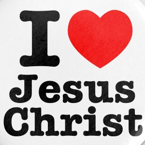 I heart Jesus Christ Badge 25mm x 5 - Buttons small 25 mm