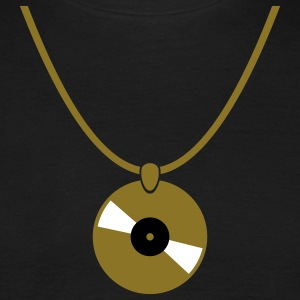 Necklace - record T-Shirts - Men's T-Shirt