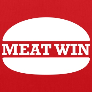 MEAT WIN Slogan Tote Bag - Tote Bag