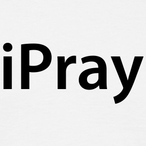 iPray - Classic Mens Black Text - Men's T-Shirt