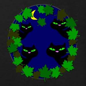 cats in moonlight by patjila Kids' Shirts - Kids' Organic T-shirt