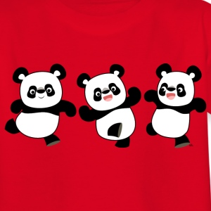 Three Cute Cartoon Pandas by Cheerful Madness!! Kids' Shirts - Teenage T-shirt