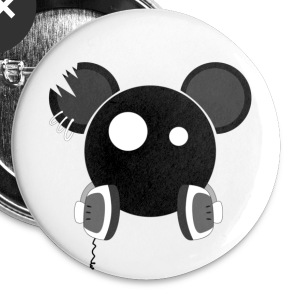 Dj Mouse - Badge petit 25 mm