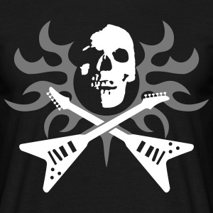 skull_tribla_guitars_092011_a_3c T-shirts - Mannen T-shirt