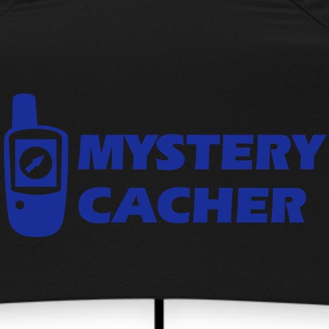 Geocaching GPS Mystery Cacher - Flockdruck Königsblau