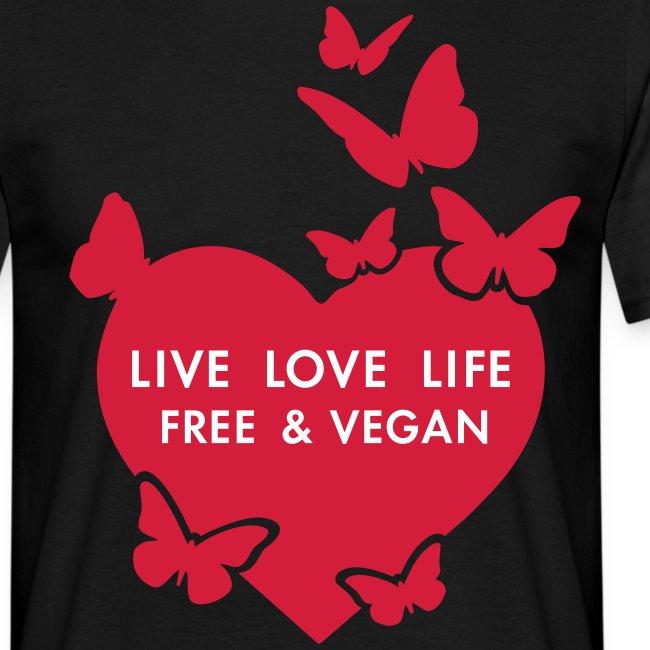 Mens - LIVE LOVE LIFE FREE & VEGAN