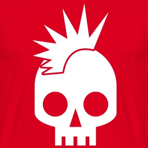 PUNK BABY skull with mohawk T-Shirts - Men's T-Shirt