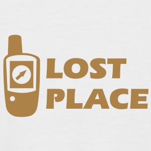 Geocaching GPS Lost Place Cache T-Shirts - Men's Baseball T-Shirt