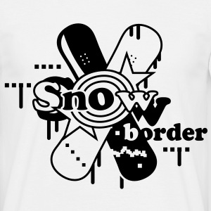 Two crossed Snowboards T-Shirts - Men's T-Shirt