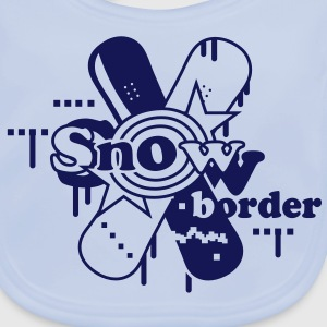 Two crossed Snowboards Accessories - Baby Organic Bib