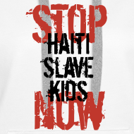 Motiv ~ Mann Baseballshirt Stop Haiti Slave Kids now © by kally ART®
