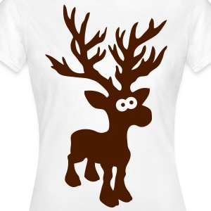 cute moose caribou reindeer deer christmas norway rudolph rudolf winter scandinavia canada T-Shirts - Women's T-Shirt
