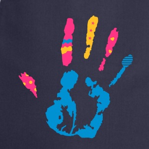 A colorful hand print with various shapes  Aprons - Cooking Apron