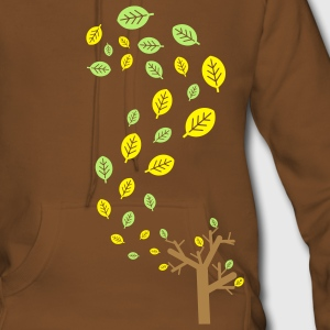 Autumn leaves in the wind - 3 colors Hoodies & Sweatshirts - Women's Premium Hoodie