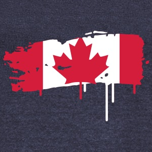 painted flag of Canada  Hoodies & Sweatshirts - Women's Boat Neck Long Sleeve Top