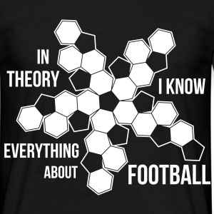 Football Geometry - dark shirt T-Shirts - Men's T-Shirt