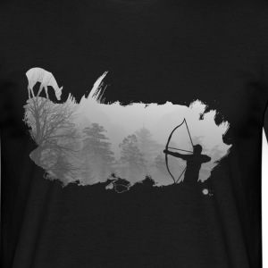bowhunter splash Nebel T-Shirts - Männer T-Shirt