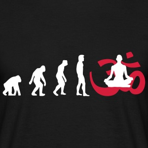Evolution Yoga Buddhist Meditation T-Shirts - Men's T-Shirt