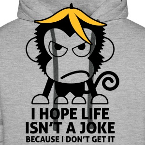 Life Isnt A Joke 4 (2c)++ Hoodies & Sweatshirts - Men's Premium Hoodie