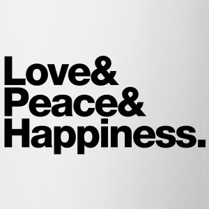 love peace happiness Muggar - Mugg
