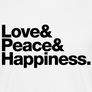 love peace happiness T-shirts - Mannen T-shirt