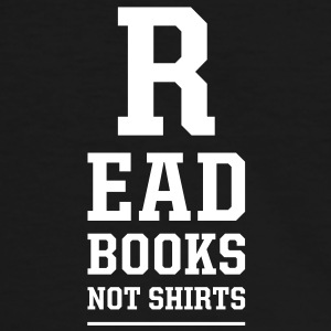 read books not shirts T-shirts - Kontrast-T-shirt herr