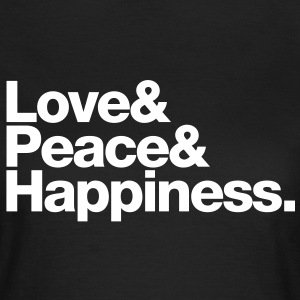 love peace happiness Camisetas - Camiseta mujer