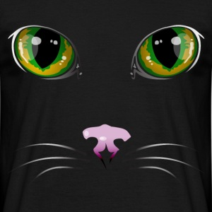 Chat noir quadri - T-shirt Homme