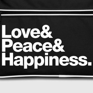 love peace happiness Sacs - Sac Retro