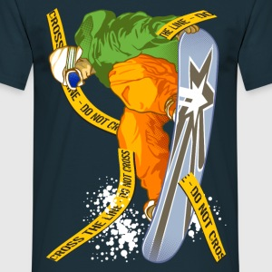 Snowboarder crush the fence - Men's T-Shirt