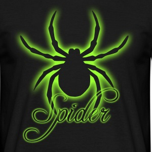 Glowing Spider - Männer T-Shirt