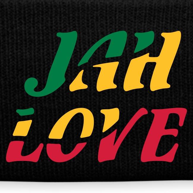schwarze Reggae Mütze Jah Love