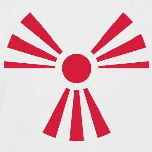 Radiation Sign (Rising Sun) (Vector) - Men's Baseball T-Shirt