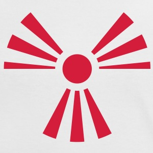 Radiation Sign (Rising Sun) (Vector) - Women's Ringer T-Shirt