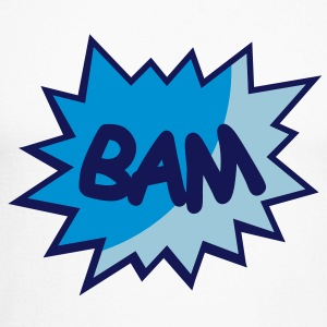 Comic speech bubble Bam Long sleeve shirts - Men's Long Sleeve Baseball T-Shirt