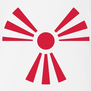 Radiation Sign (Rising Sun) (Vector) - Baby Bio-Kurzarm-Body