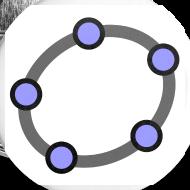 Design ~ GeoGebra Buttons x5 (medium)