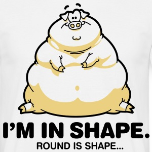 Round Is Shape 1 (2c)++ T-skjorter - T-skjorte for menn