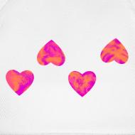 Motiv ~ Base-Cap mit 4 Herzen