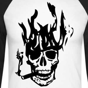 tete mort en flame32 Tee shirts manches longues - T-shirt baseball manches longues Homme