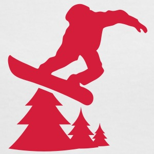 snowboarding tree 1c Tee shirts - T-shirt contraste Femme