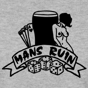1 colour - mans ruin pin up girl sex drugs rock n roll junggesellenabschied Sweatshirts - Herre sweater