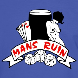 3 colours - mans ruin pin up girl sex drugs rock n roll junggesellenabschied Camisetas - Camiseta contraste hombre