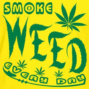 smoke weed every day - Kontrast-T-shirt herr