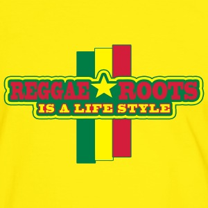 reggae roots is a life style - Mannen contrastshirt