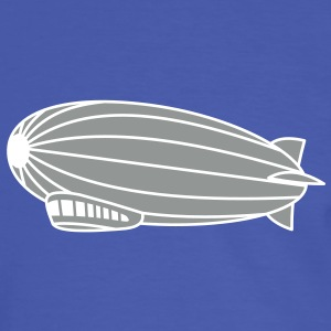 2 colours - Hindenburg Zeppelin Luftschiff T-Shirts - Männer Kontrast-T-Shirt