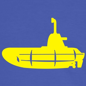 1 colour - Gelbes U-Boot schwarz - Yellow Submarine black T-Shirts - Männer Kontrast-T-Shirt