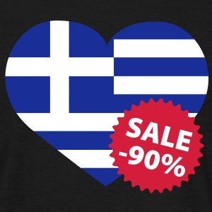 Greece Sale | Finance crisis | Sparmaßnahme Europa T-Shirts - Maglietta da uomo