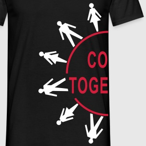 Wortsalat COME TOGETHER - Partnerlook links | unisex shirt - Männer T-Shirt