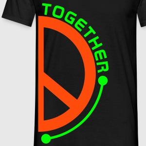 Wortsalat COME TOGETHER PEOPLE / PEACE - Partnerlook rechts | unisex shirt - Männer T-Shirt